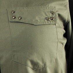 camisa verde militar feminina principessa priscila bolso