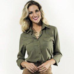 camisa verde militar feminina principessa priscila corpo