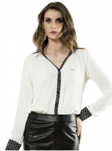 camisa manga longa branca katie principessa