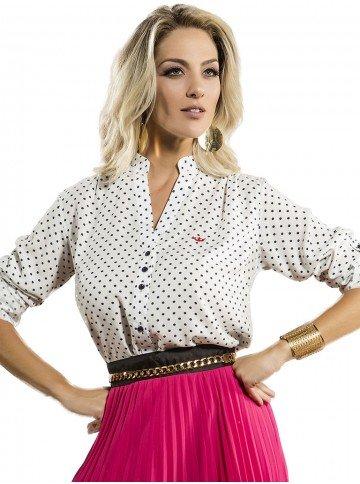 blusa de poa feminina principessa diandra