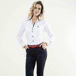 camisa social branca feminina scarlet
