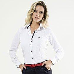 camisa social feminina manga longa scarlet