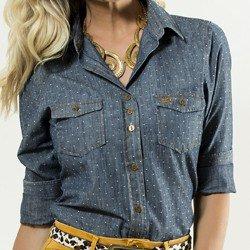 camisa feminina jeans principessa nina corpo
