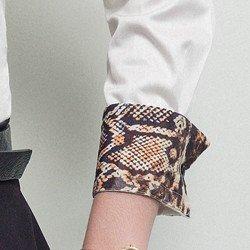 camisa social fio egipcio feminina principessa ana cecilia detalhe punho