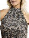 blusa de festa estampada principessa mayra