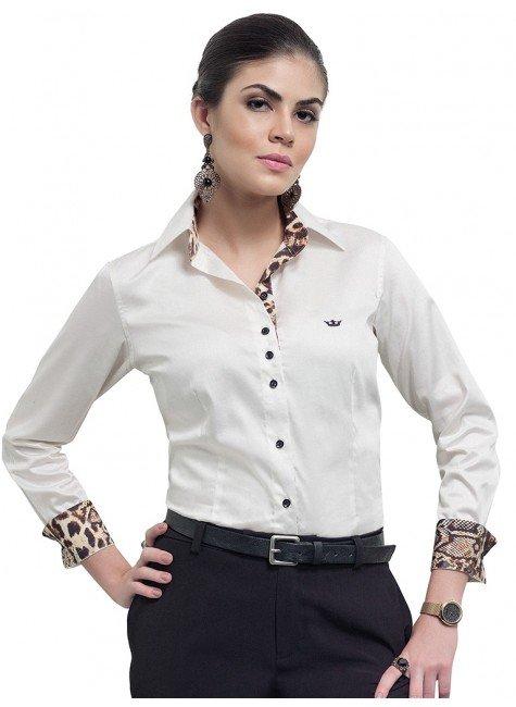 camisa feminina ana cecilia fio egipcio