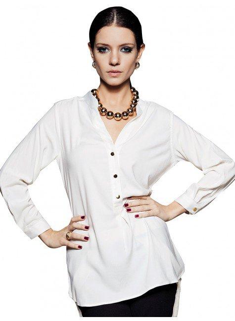 blusa basica branca hillary