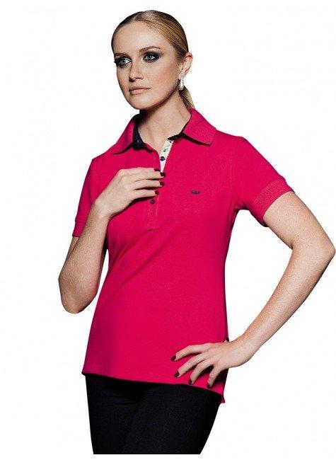 blusa polo vermelha marion
