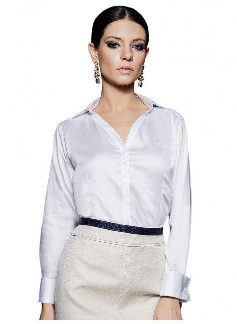 camisa feminina social branca principessa alessandra