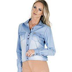 camisa jeans de poa principessa heloisa