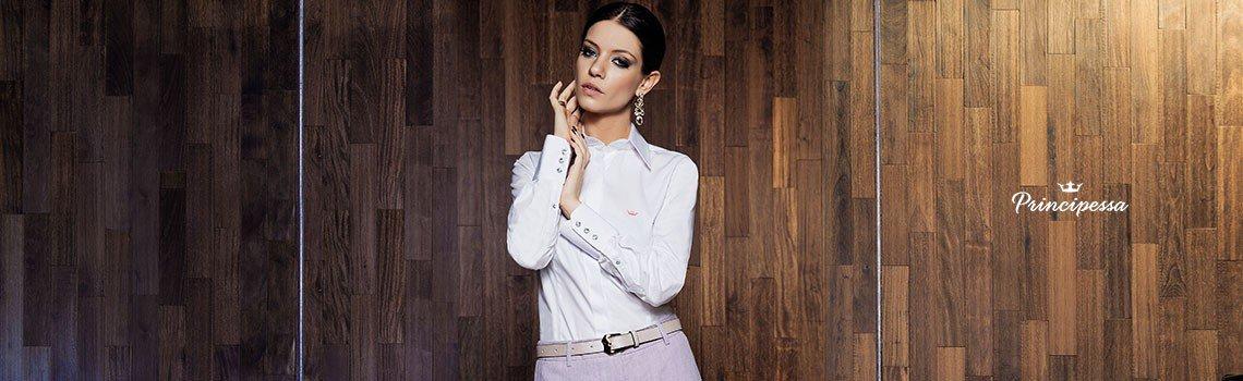 camisa social feminina branca principessa diane