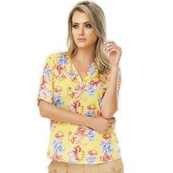 camisa floral amarela principessa emanuelle