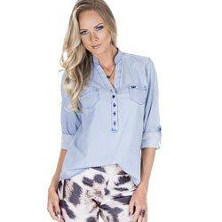 blusa jeans feminina principessa desiree detalhe corpo