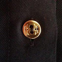 vestido chemise preto suelin botao ouro feminino principessa