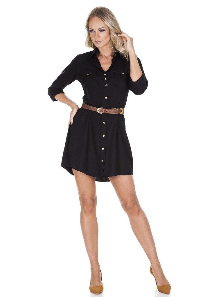 vestido preto feminino principessa suelin chemise corpo look