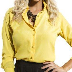 camisa feminina principessa amarela crepe social modelagem