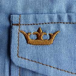 vestido jeans azul principessa claire