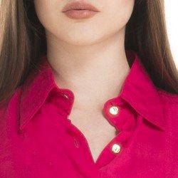 chemise marinho principessa maria cecilia colarinho alinhado