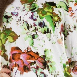 blusa estampada floral feminina principessa patricia detalhe estampa