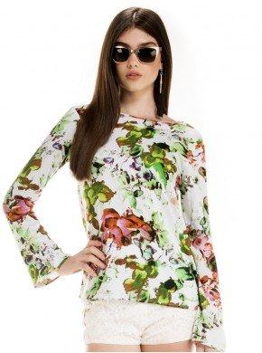 blusa estampada floral feminina principessa patricia look certo