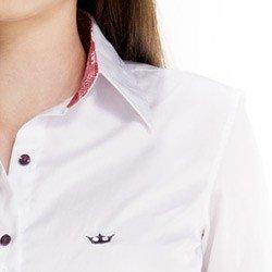 camisa feminina principessa nalva detalhe colarinho