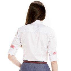 camisa feminina principessa nalva detalhe corpo costa