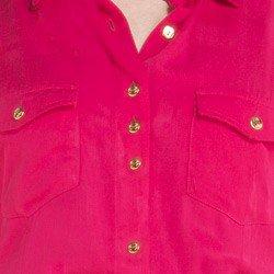 vestido pink feminino principessa maria cecilia botao ouro metal