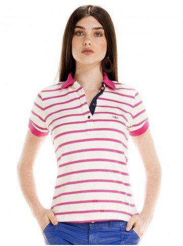 camisa polo feminina monika listrada estilo navy
