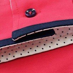 camisa vermelha de algodao tabita