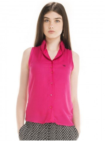 camisa regata pink principessa clenia look
