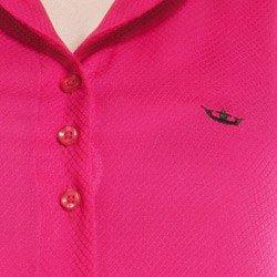 detalhe camisa regata principessa clenia logo