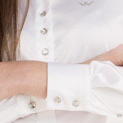 detalhe camisa cetim branca feminina principessa aurea punho