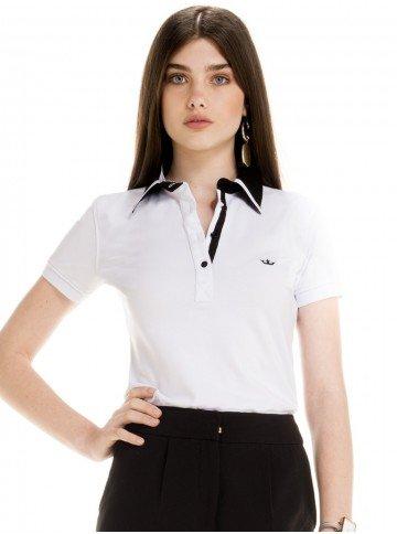 blusa polo branco social feminina principessa juciara look