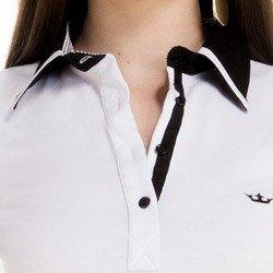 detalhe blusa polo branco social feminina principessa juciara colarinho