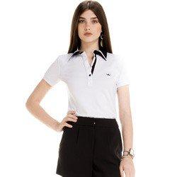 detalhe blusa polo branco social feminina principessa juciara look