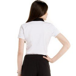 detalhe blusa polo branco social feminina principessa juciara look modelagem