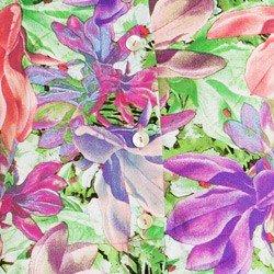 detalhe camisa cropped feminina principessa iohana floral estampa