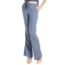 detalhe calca flare cintura alta wisla jeans modelagem look