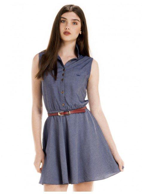 vestido jeans escuro moderno principessa otilia look