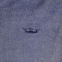 detalhes vestido jeans escuro moderno principessa otilia coroa