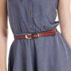 detalhes vestido jeans escuro moderno principessa otilia elastico cintura