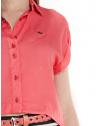 camisa cropped feminino principessa vitoria logo