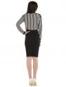 camisa listrada preto branco feminina elizete look completo costa