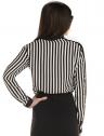 camisa listrada preto branco feminina elizete look costa