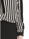 camisa listrada preto branco feminina elizete manga