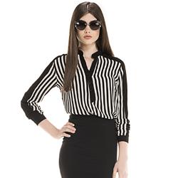 detalhe listras blusa feminina elizete look