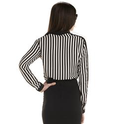 detalhe listras blusa feminina elizete look modelagem