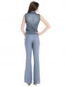 camisa jeans regata amarrar cintura feminina principessa iona look completo costa