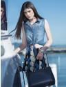 camisa jeans regata amarrar cintura feminina principessa iona look conceito