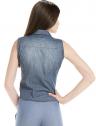 camisa jeans regata amarrar cintura feminina principessa iona look costa